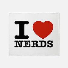 I Love Nerds Throw Blanket