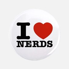 """I Love Nerds 3.5"""" Button (100 pack)"""