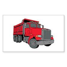 Big Red Dump Truck Decal