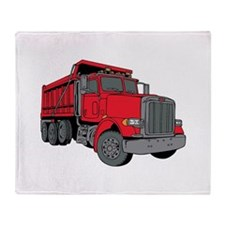 Big Red Dump Truck Throw Blanket