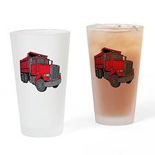 Big Red Dump Truck Drinking Glass