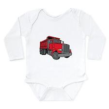Big Red Dump Truck Long Sleeve Infant Bodysuit