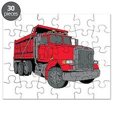 Big Red Dump Truck Puzzle