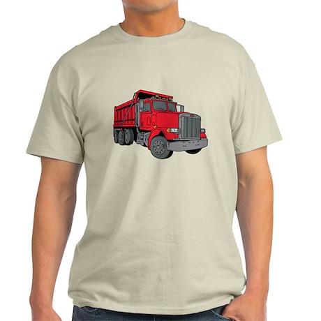 Big Red Dump Truck Light T-Shirt