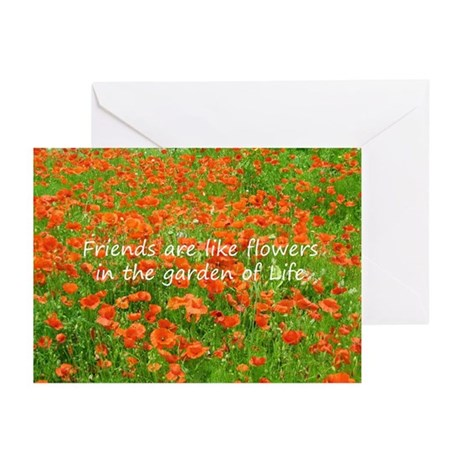 Friends Are Like Flowers Greeting Cards (Pk of 10)