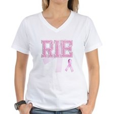 RIE initials, Pink Ribbon, Shirt