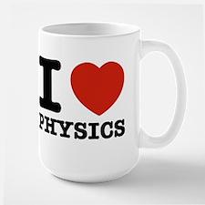 I Love Physics Large Mug