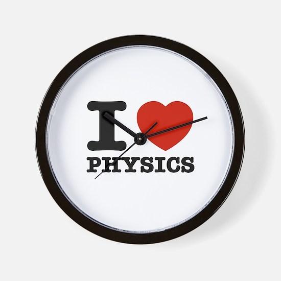 I Love Physics Wall Clock