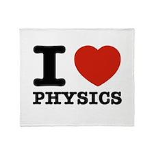 I Love Physics Throw Blanket