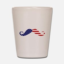 USA stars and stripes Moustache.png Shot Glass