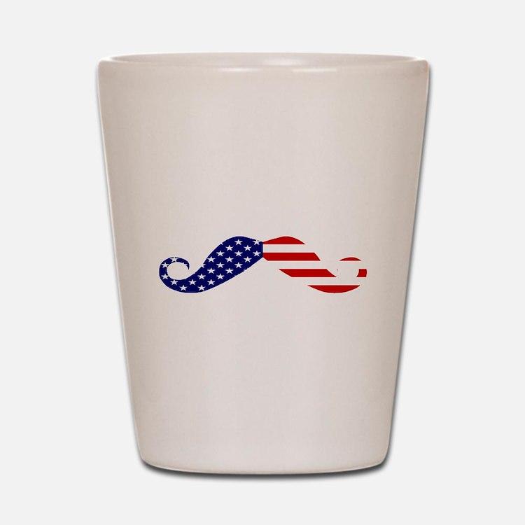 USA stars and stripes Moustache.png Shot Glass