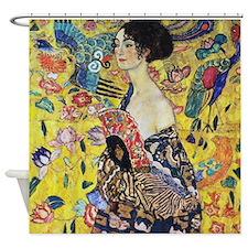 Gustav Klimt Lady With Fan Shower Curtain