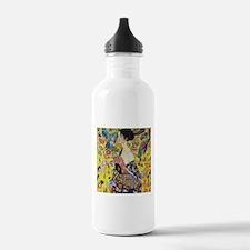 Gustav Klimt Lady With Fan Water Bottle