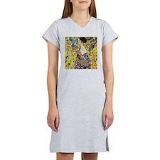 Gustav Klimt Lady With Fan Women's Nightshirt