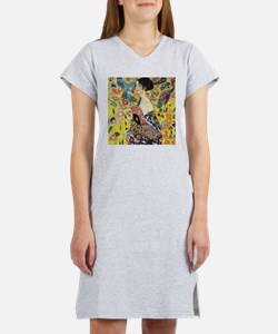 Gustav Klimt Lady With Fan Women's Nightshirt