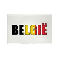 Belgium (Dutch) Rectangle Magnet