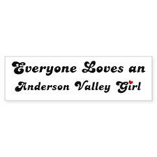 Anderson Valley girl Bumper Bumper Sticker