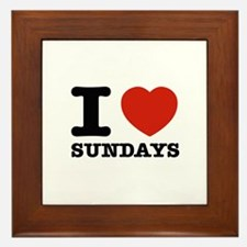 I Love Sundays Framed Tile