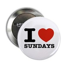 "I Love Sundays 2.25"" Button"