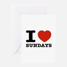 I Love Sundays Greeting Card