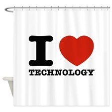 I Love Technology Shower Curtain