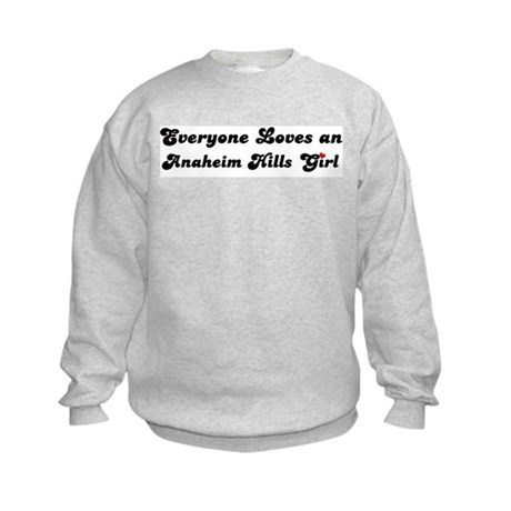 Anaheim Hills girl Kids Sweatshirt
