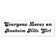 Anaheim Hills girl Bumper Bumper Sticker