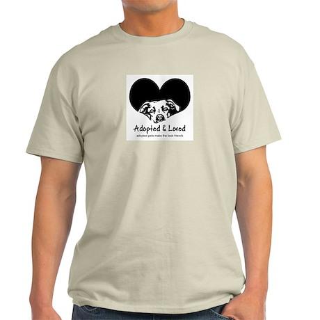 Adopted & Loved Ash Grey T-Shirt