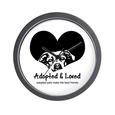 Adopted & Loved Wall Clock
