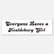 Healdsburg girl Bumper Bumper Bumper Sticker