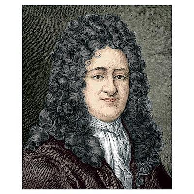 Gottfried Leibniz, German mathematician Poster