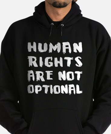 Human Rights Are Not Optional Hoodie (dark)