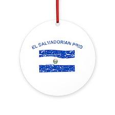El Salvadorian Pride Ornament (Round)
