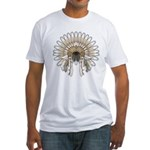 Native War Bonnet 05 Fitted T-Shirt