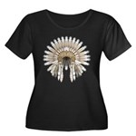 Native War Bonnet 05 Women's Plus Size Scoop Neck