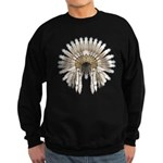 Native War Bonnet 05 Sweatshirt (dark)