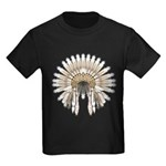 Native War Bonnet 05 Kids Dark T-Shirt