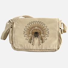 Native War Bonnet 05 Messenger Bag