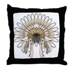 Native War Bonnet 05 Throw Pillow