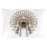 Native War Bonnet 05 Pillow Case