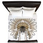 Native War Bonnet 05 King Duvet