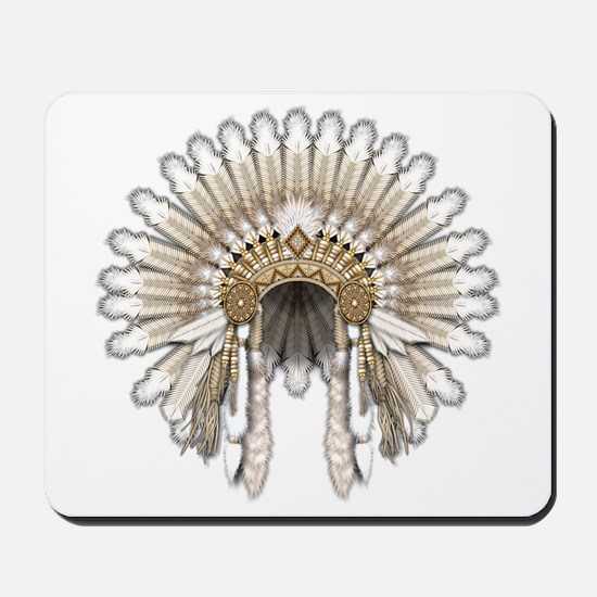 Native War Bonnet 05 Mousepad
