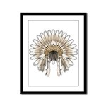 Native War Bonnet 05 Framed Panel Print