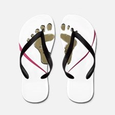 Funny Baby footprints Flip Flops
