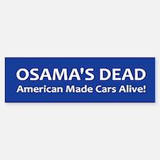 Osama's Dead Bumper Bumper Sticker