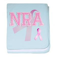 NRA initials, Pink Ribbon, baby blanket