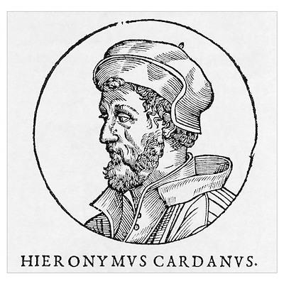 Girolamo Cardano, Italian mathematician Poster