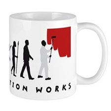 evolution painter man Mug
