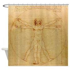 Leonardo Da Vinci Vitruvian Man Shower Curtain