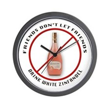 No White Zin! Wall Clock